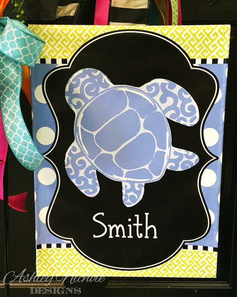 Sea Turtle Garden Vinyl Flag