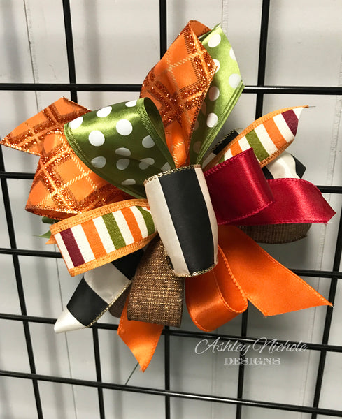 Fall-Bow - Small Puff - Elegant Fall