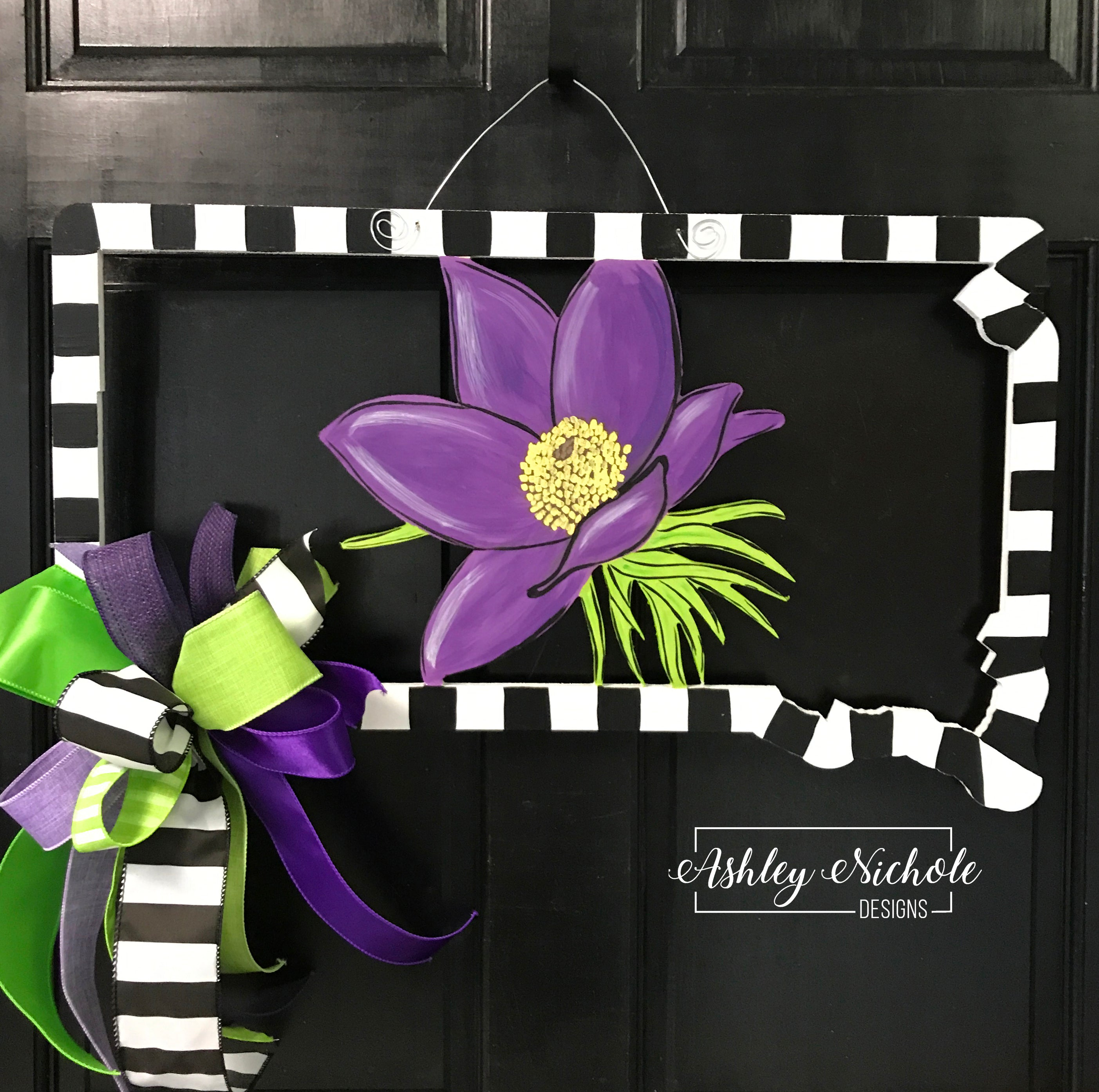 south dakota state flower door hanger ashleynichole designs