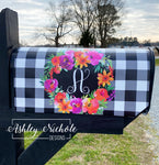 Spring Bouquet Initial MailBox Cover