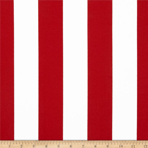"18"" Outdoor Pillow-Cabana Stripe Red and White"