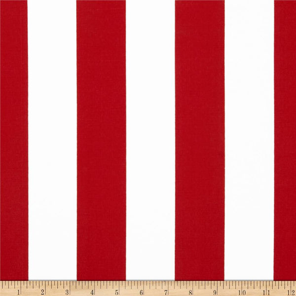 "18"" Outdoor Pillow-Stripe Red and White"