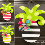 Pineapple-Small - Striped - Door Hanger