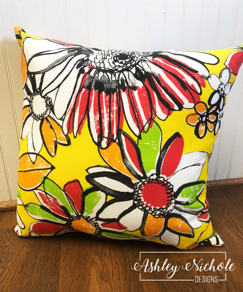 "18"" Terrasol Zoe Outdoor Canary Pillow"