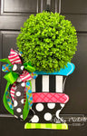 Topiary - Spring - Colorful- Door Hanger