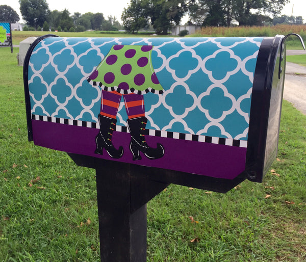 Witch Feet Mailbox Cover