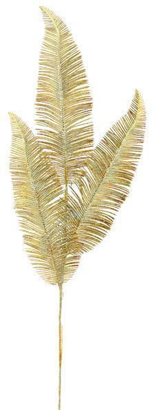 "28"" Metallic Lace Fern Spray Gold"