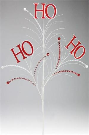 Felt Sequin Ho Ho Ho Spray 19""