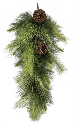 Mixed Pine/Pinecone Teardrop  Two Tone 30""