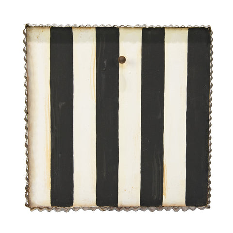 Black and White Stripe Gallery Art Display Board