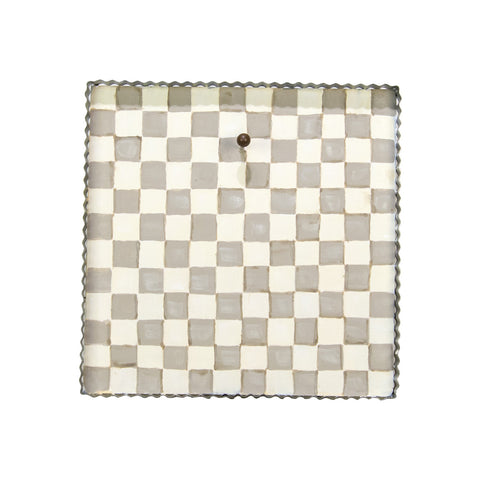 Gray and White Checkered Gallery Art Display Board