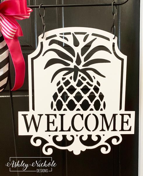 Pineapple Welcome or Last name ACM Flag