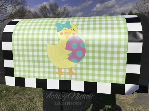 Baby Chick Vinyl Mailbox Cover
