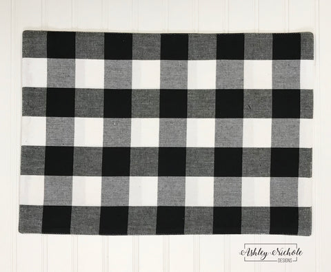 Buffalo Check Placemats - Black