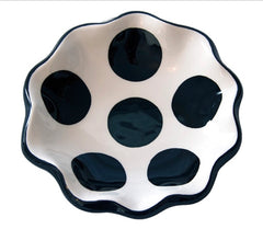 BLACK Polka Dot Spoon Rest