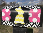 Bunny - Chevron - Magnetic Mailbox Cover