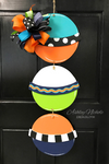 Funky Triple Buoy Door Hanger