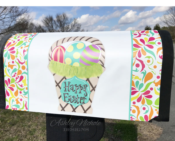 Easter Basket Magnetic Mailbox Cover