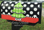 Christmas Tree - Harlequin - Magnetic Vinyl Mailbox Cover