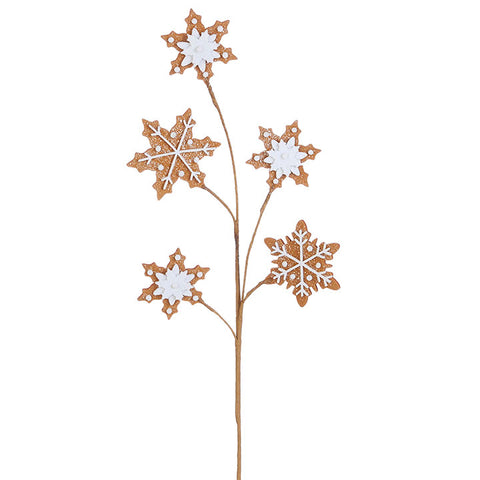 Gingerbread Snowflake Pick