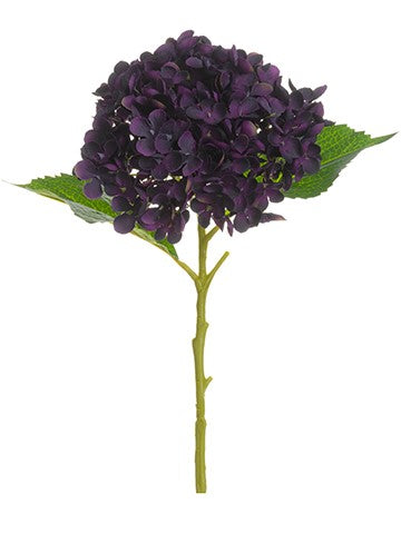 "20"" Hydrangea Spray Purple Violet"
