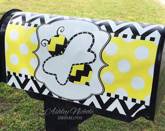 Bumble Bee Magnetic Mailbox Cover