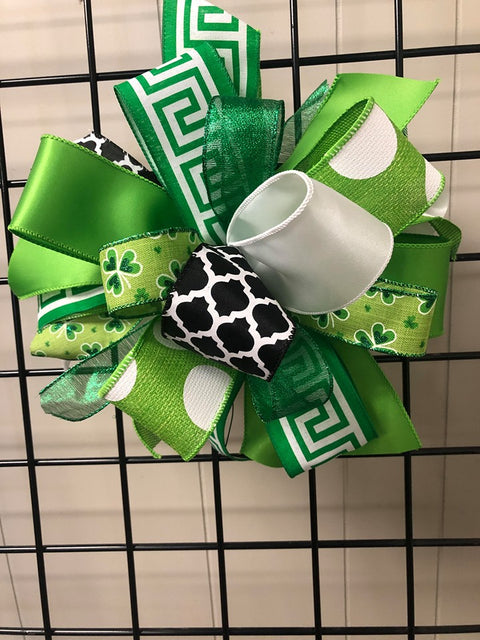Saint Patricks Day Bow Large Puff