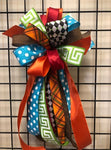 Fall Colorful Bow-Large Streamer
