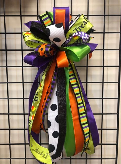 Halloween Bow-Large Streamer