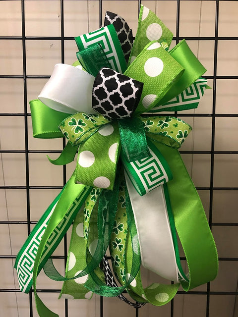 Saint Patricks Day Bow-Large Streamer