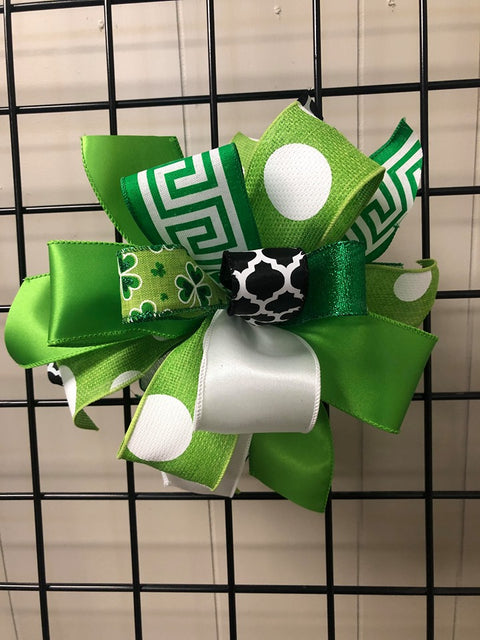 Saint Patricks Day-Bow-Medium Puff