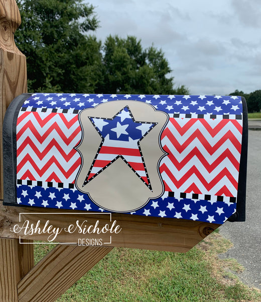 Patriotic Star Magnetic Mailbox Cover