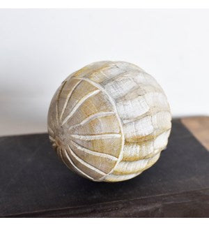 "4"" Wooden Ball Choose from Neutral or White"