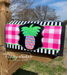 Pineapple - Tropical Colors Abstract - Magnetic Mailbox Cover