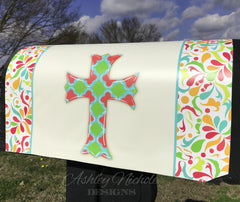 Scalloped  - Quatrefoil Cross Magnetic Mailbox Cover
