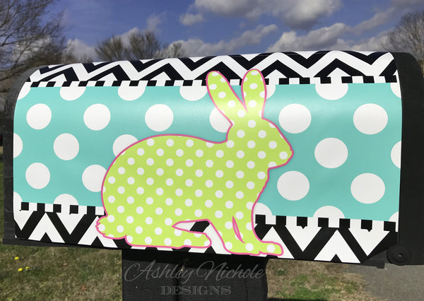 Sitting Bunny Magnetic Mailbox Cover