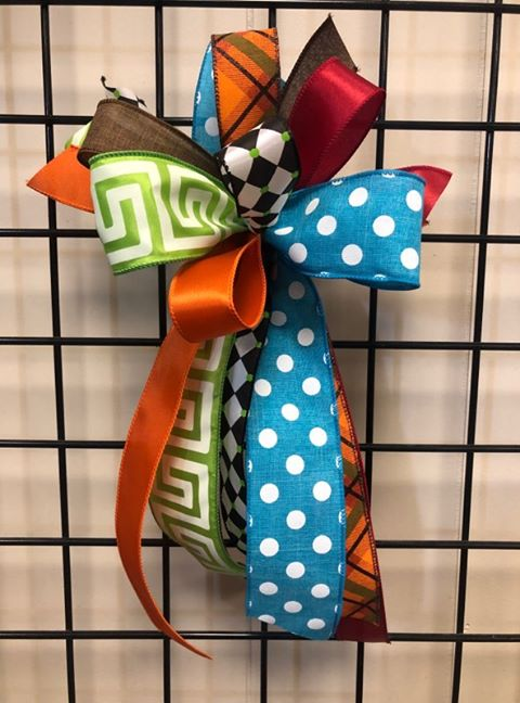 Fall Colorful Bow - Small Streamer