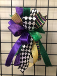 Mardi Gras  Bow-Small Streamer