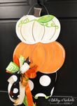 Pumpkin Topiary Door Hanger