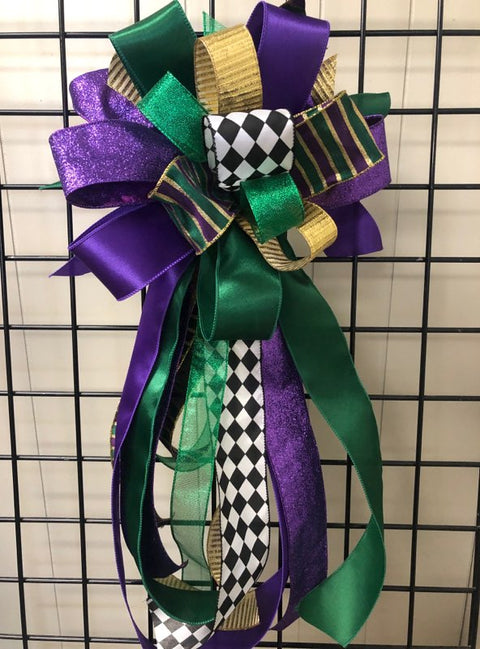 Mardi Gras Bow-XL Streamer