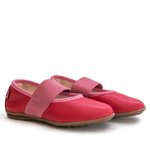 Pololo fleur ballerina red and pink side