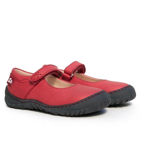 Pololo red mary janes, vegetable tanned leather.