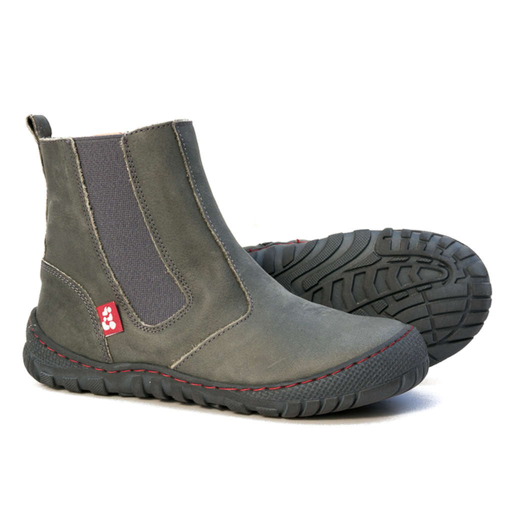 Grey winter ankle boot for children