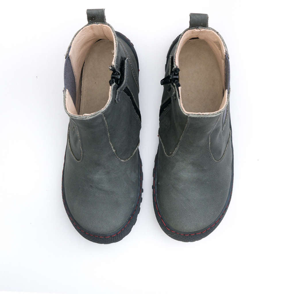 European leather ankle boot for kids