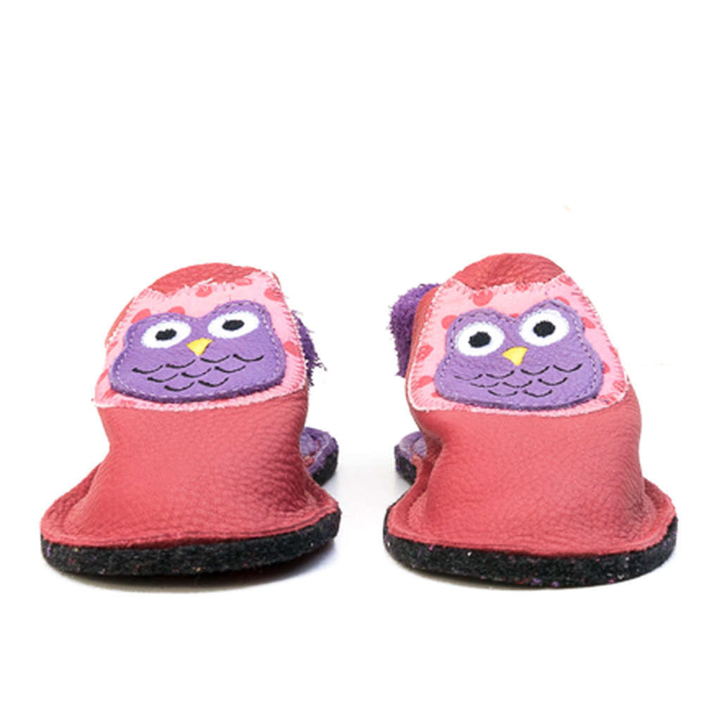 Owl indoor slippers, red