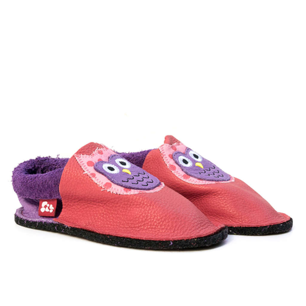 Kids leather slippers hypoallergenic