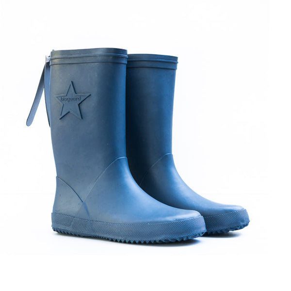 Slim Bisgaard natural rubber gumboots for kids, blue.