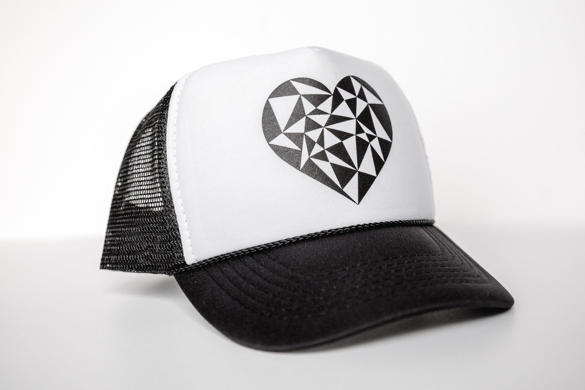 Geo Heart -Snapback Trucker Hat