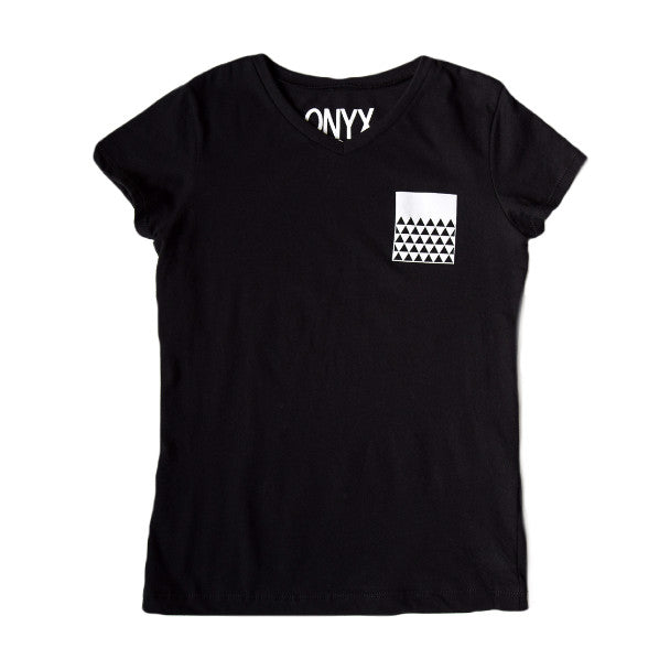 Triangle - Faux Pocket V-neck Tee (Girls)