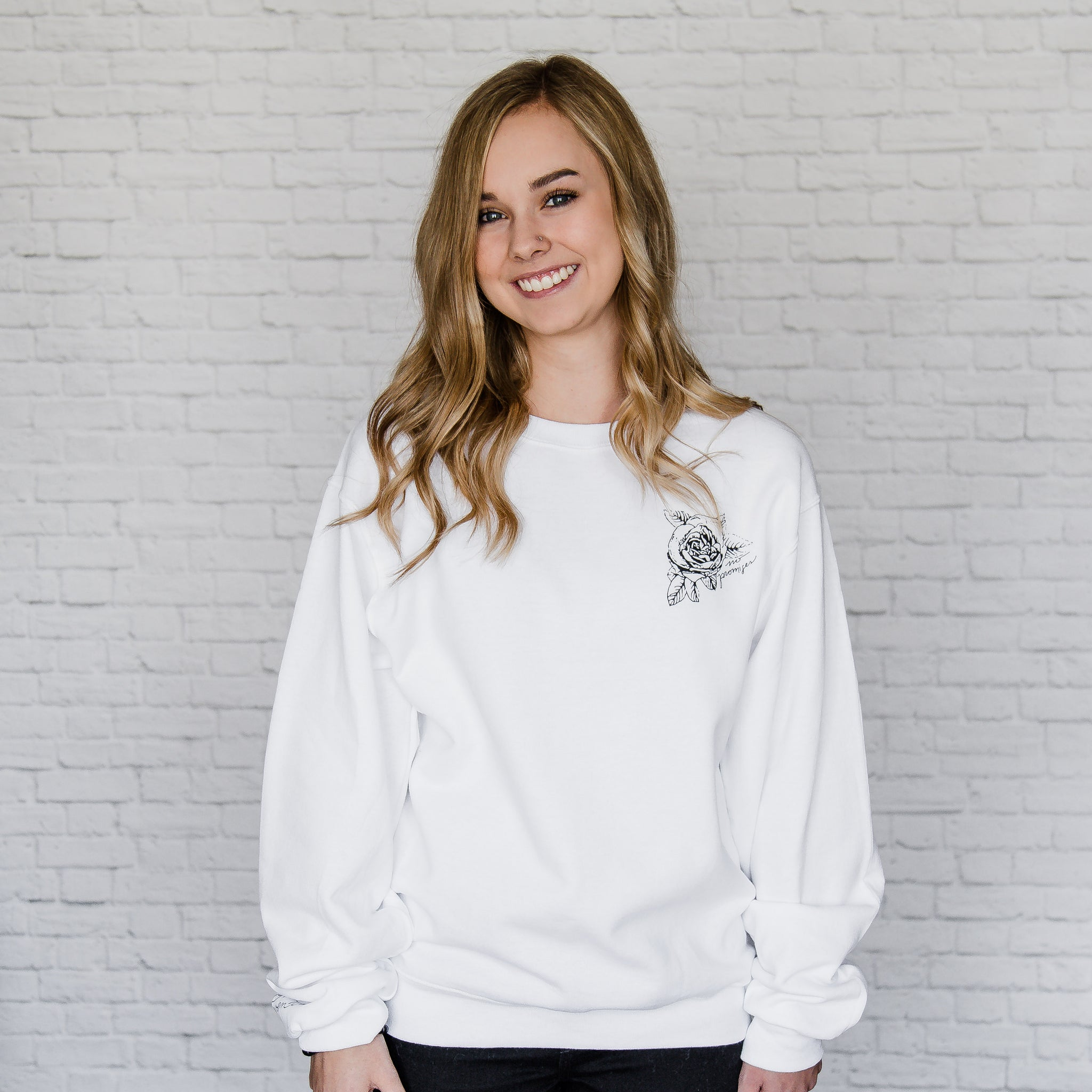 Rose Sweatshirt (Unisex)